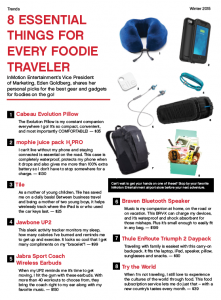 InMotion Entertainment November 2015 Food Traveler Advertisement - Writing, Editing, Layout and Design